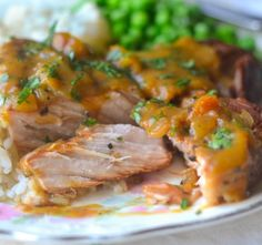 Succulent Crock Pot Peach Barbecue Smothered Pork Chops - Recipe, Pork, Tender, Mouth Watering