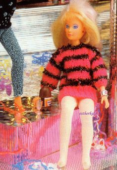 VINTAGE knitting pattern pdf Barbie doll by EstherKateVintage