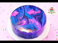 GALAXY MIRROR GLAZE CAKE | MY LITTLE CAKES - YouTube