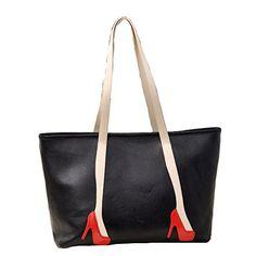 0ff05f98a0 Niktest Womens Bag New Korean Style Faux Leather Personalized Handbag  Shoulder Bag Black --    AMAZON BEST BUY