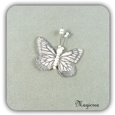 STICKER PAPILLON SOIE 3.5 CM ROSE PALE - Boutique www.magicreation.fr