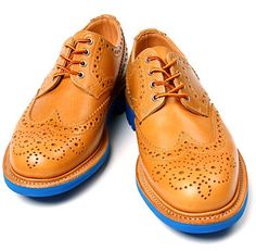 A risk that's worth it, especially if you can't do without some color in your life. Or if you're a Knicks fan. Saddle waxed country brogue ($424) by Union x Mark McNairy, unionlosangeles.com