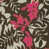 Leaf & Floral Stretch Cotton
