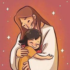 Jesus Is Life, Jesus Loves You, God Jesus, Jesus Wallpaper, Jesus Artwork, Jesus Drawings, Jesus Christ Drawing, Jesus Cartoon, Bible Cartoon