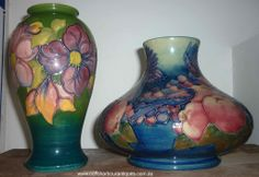 Moorcroft Pottery Pieces - these are just stunning Ceramic Pottery, Pottery Art, Art Studies, Porcelain, Shapes, Ceramics, Fine Art, Antiques, Bottles