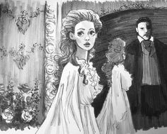 #phantomoftheopera for #inktober2016! Thanks for the awesome suggestion! Love Phantom! Any other suggestions for #inktober??