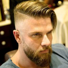 50 Popular Haircuts For Men Guide) Undercut Comb Over – Popular Hairstyles For Men: Best Men's Haircuts, Cool Short, Medium and Long Hair Styles For Guys Undercut With Beard, Beard Haircut, Beard Fade, Undercut Fade, Full Beard, Long Undercut Men, Disconnected Undercut Men, Undercut Combover, Undercut Styles