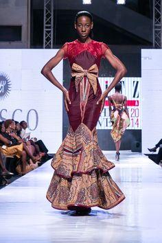 Créations du styliste Seyi Jones présentées à l'édition 2014 de la Glitz Africa Fashion Week