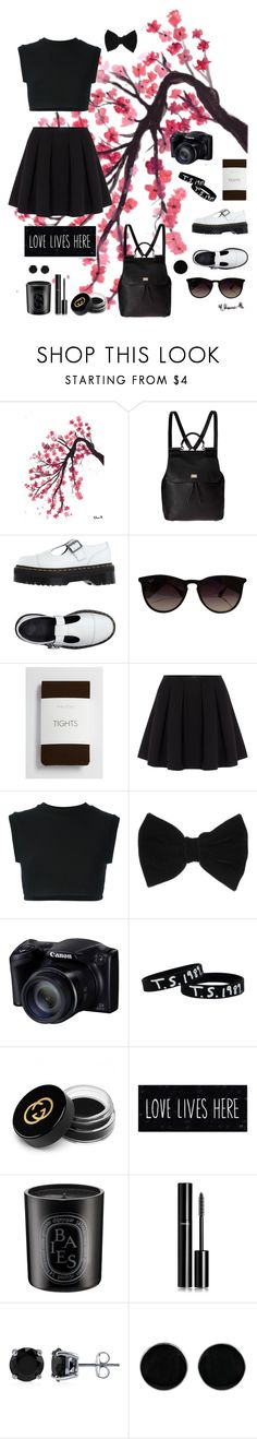 """cherry blossom"" by horansfrenchy ❤ liked on Polyvore featuring moda, Dolce&Gabbana, Dr. Martens, Ray-Ban, maurices, Polo Ralph Lauren, adidas Originals, claire's, Gucci e Diptyque"