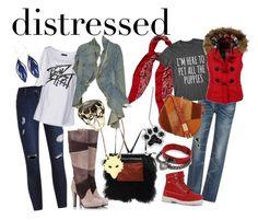 """distressed"" by dramaskirt ❤ liked on Polyvore featuring Yves Saint Laurent, Alisa Smirnova, Bad Spirit, Ginette NY, Fratelli Karida, Aurélie Bidermann, R13, LE3NO, Bling Jewelry and Foley + Corinna"