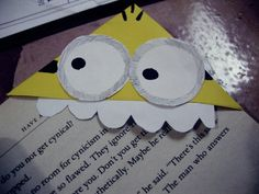 Diy Minion Corner Bookmark