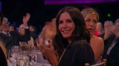 When Courteney Cox's smile lit up the entire room.