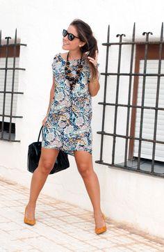 http://www.theguestgirl.com/2014/10/cozy-october/ #october #new #fashion #newpost #dress #boho #chic #blue #theguestgirl