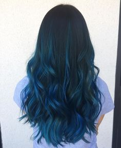 30 Stylish Ideas for Blue Black Hair - Extremely Flamboyant Cute Hair Colors, Pretty Hair Color, Hair Dye Colors, Dark Blue Hair, Blue Ombre Hair, Black Hair, Deep Blue, Wig Hairstyles, Straight Hairstyles
