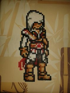 Ezio Assasin's Creed hama beads by Rubén Franco