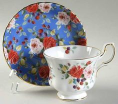 Royal Albert Rosa Footed Cup & Saucer Set