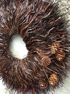 Thanksgiving-Kranz - Herbst-Kranz - Herbst Kranz - Christmas Wreath - Winter Wreath - Magnolia-Kranz