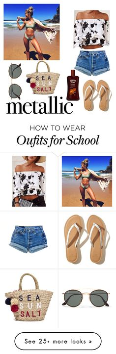 """""""Summer"""" by mikayla-bouloukos on Polyvore featuring Hollister Co., Ray-Ban and Sundry"""