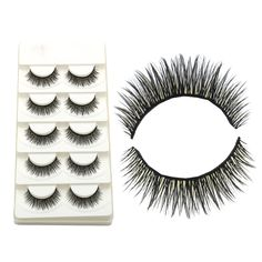 YOKPN Hand Cross False Eyelashes Cotton Thread High Quality Fiber Natural Thick Fake Eyelashes Smoke Makeup Tools Eye Lashes