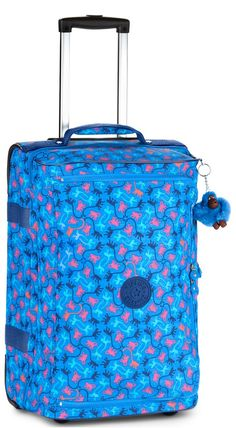 Luggage Kipling Basic K13094 Teagan S - Sml Wheeled Cabin Size Monkey Mania Sky