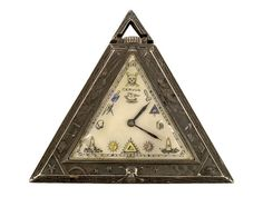 early 20thC silver cased triangular Masonic fob watch, - Miller's Antiques & Collectables Price Guide