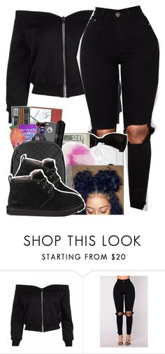 """""""All black Affair ♀️"""" by hoodxprincess ❤ liked on Polyvore featuring UGG Australia"""