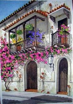 Acuarelas Cartagena de Indias