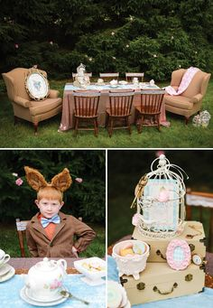 mad hatter tea party tablescape