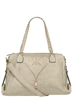 Kardashian Kollection Chain And Zip Slouch Bag