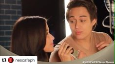 Hahahha yung face ni Quenito.😂 @enriquegil17 @lizasoberano #Repost @nescafeph with @repostapp ・・・ Try the new NESCAFÉ Café Au Lait w/ the sweet flavor of condensed milk. Get your #NESCAFEFlavorMoves from 7-Eleven!