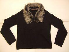 JENNY Women's Sweater Size-S  Black  Very Good!  #Jenny #Crewneck