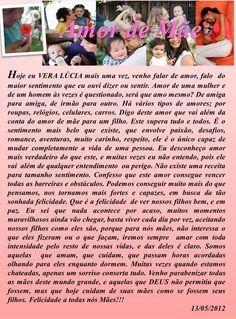 Amor de Mãe, texto de Vera Lúcia Valentim