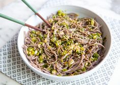 sweet spicy ginger soba - a house in the hills