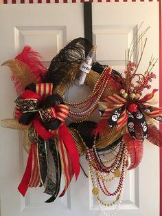 Gasparilla Wreath by WenchesandWreaths on Etsy