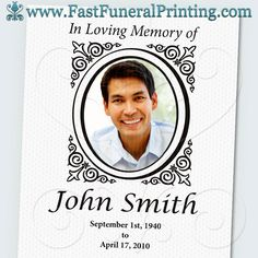 24 best memorial service posters images on pinterest funeral