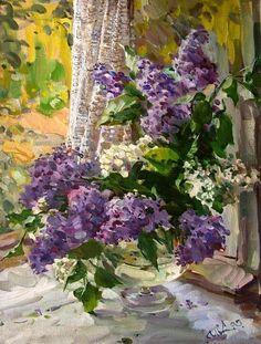 levkonoe | Entries tagged with -окно в лето Vj Art, Watercolor Flowers, Watercolor Paintings, Lilac Painting, Lilac Flowers, Window Art, Russian Art, Pictures To Paint, Landscape Art
