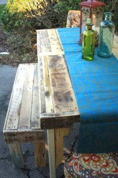 Farmhouse Table Made from pallet wood 36 x 66 by RustedCreek