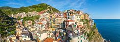 Manarola, Cinque Terre, Italy • AirPano.com • 360° Aerial Panorama • 3D Virtual Tours Around the World