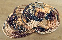 Rich color Southwest style long seed bead patterned by EntwineArt