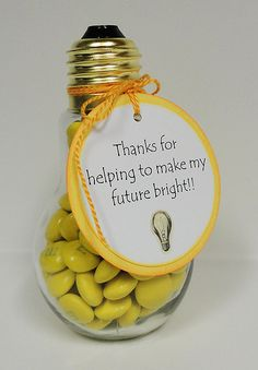 "Thanks for helping to make my day bright! Unique pick-me-up gift for a sister or advisor! ""You brighten my day"""
