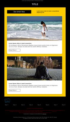 """""""News of the Month"""" Responsive Email Newsletter template - Exclusive Canvas template for email marketing - editable - No html skill required - No Photoshop needed Responsive Email, Ecommerce, Email Marketing Design, Email Newsletters, No Photoshop, Newsletter Templates, Design Inspiration, Hero, Canvas"""