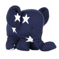 Baby´s Only Strick-Elefant mit Sternen in dunkelblau/weiß 30cm bei Fantasyroom online kaufen