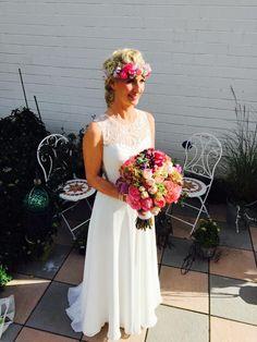 #Brautfrisur#FriseurGelsenkirchen #Hippi#SpiegleinSpieglein#hair#bride#Blumen#flechtfrisur