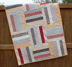 Hometown Baby Boy Quilt--this is for sale.  I'm pinning it because I want to refer back to the large quilting pattern.