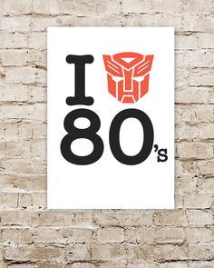 I Heart The 80s Transformers Limited Edition by CreativeSpectator, £12.99