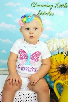 Butterfly First Birthday by CharmingLittleStitch on Etsy