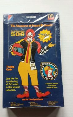 VINTAGE RONALD MCDONALD COLLECTIBLE TRADING CARDS,MCDONALDLAND 500