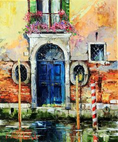 'Venice' by Gleb Goloubetski Oil on Canvas 60cm x 50cm THIS PAINTING IS SOLD