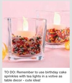 Candle Holder Sprinkle Centerpiece