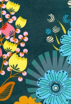 Anna Maria Horner velveteen--I love these colors together, makes me think of spring!